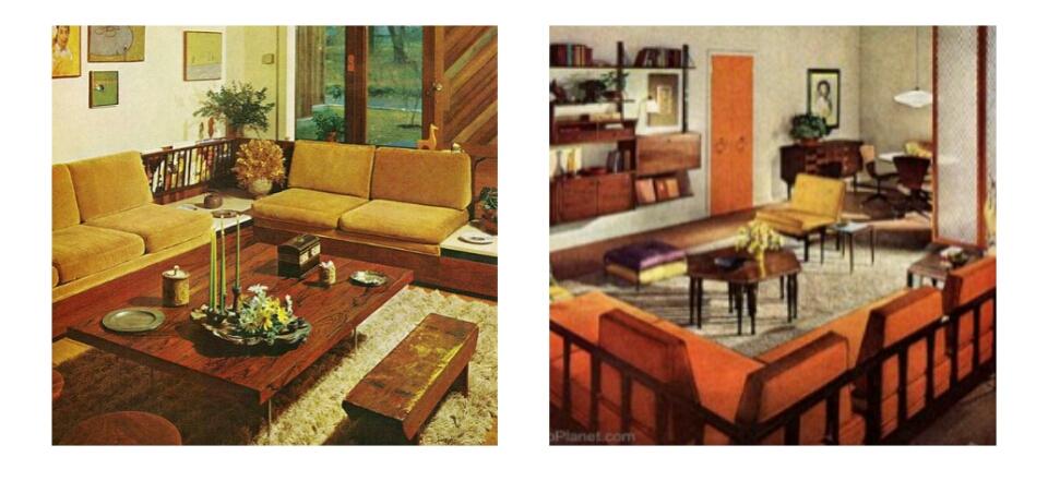 jaren 60 interieur huis galerij